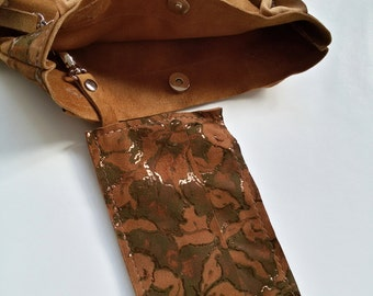 Suede Leather Shopping Bag