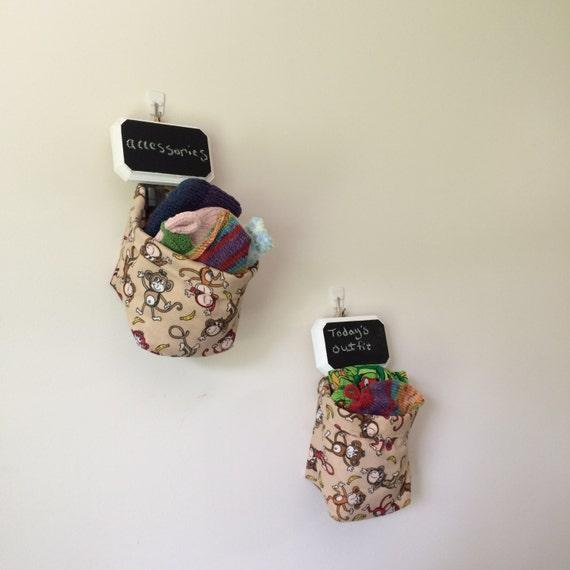 Basket of Monkeys ~ Cloth Storage Basket