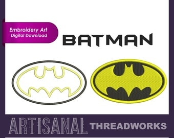 Batman Applique and Embroidery Files