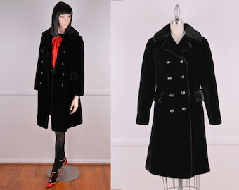 Vintage Black Faux Fur Coat