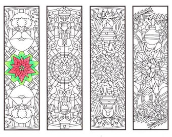 christmas coloring bookmarks christmas mandalas coloring for adults big kids and your resident - Christmas Coloring Pages For Adults