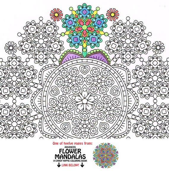 Mandala coloring page floret forest coloring page to print - Tappeto mandala ...