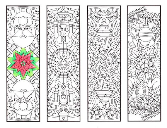 coloring bookmarks for christmas a k binfo