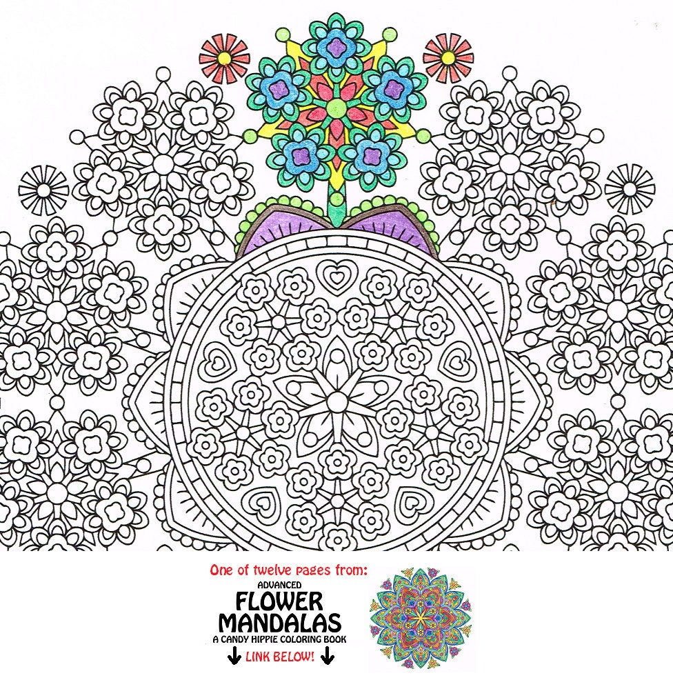 mandala coloring page floret forest coloring page to print