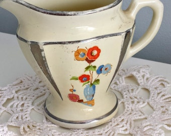 Vintage Floral Creamer Pitcher