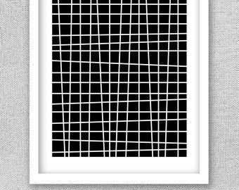 Printable Art, Line Drawing, Black and White Print, Minimalist Print, Printable Poster, Black and White Art, Abstract Print, Geometric Print