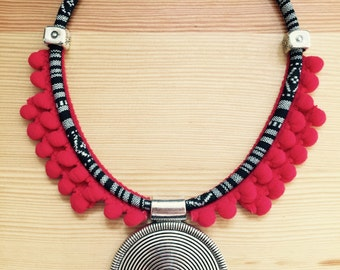 Ethnic necklace Medallion.