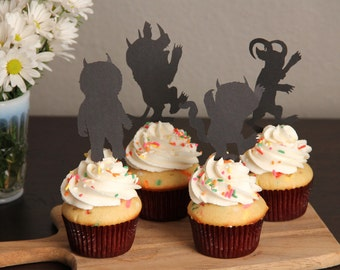 Where the Wild Things Are, Cupcake Toppers (set of 6)