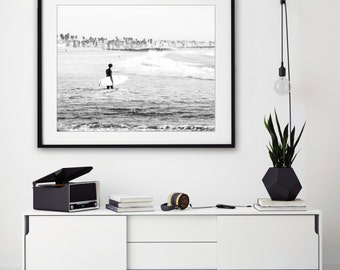 Black and White Surf Photography, Los Angeles Photography, Venice Beach, Black and White Print, Surf Decor, Beach House Art, Surf Poster