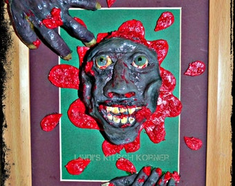 Zombie art, Zombie sculpture, Zombie, The walking dead, Horror art, Horror