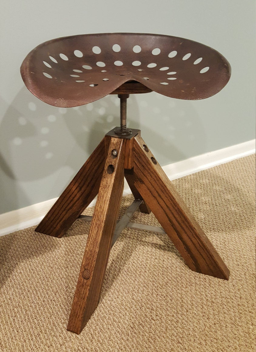 Old Tractor Seat Stool 17