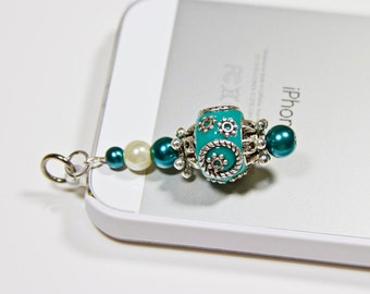 Phone Charm Beaded Dust Plug Dangle Charm for Tablets Handmade Unique Charm for Cell Accessories Gift Ideas iPhone Dust Plug Novelty Design