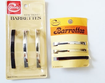 "3-1/4"" or 3"" Goody Stay-Tight Barrettes, Vintage"