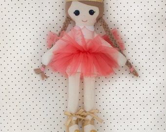 Handmade Fabric Girl Ragdoll