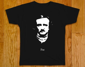 Edgar Allan Poe T-shirt, master of mystery and horror tales