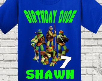 Ninja Turtles Birthday Shirt - TMNT Birthday Shirt