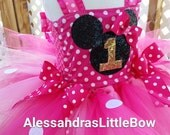 Minnie mouse tutu dress Minnie mouse birthday outfit disney trip costume pink minnie mouse birthday tutu outfit glitter minnie tutu dress