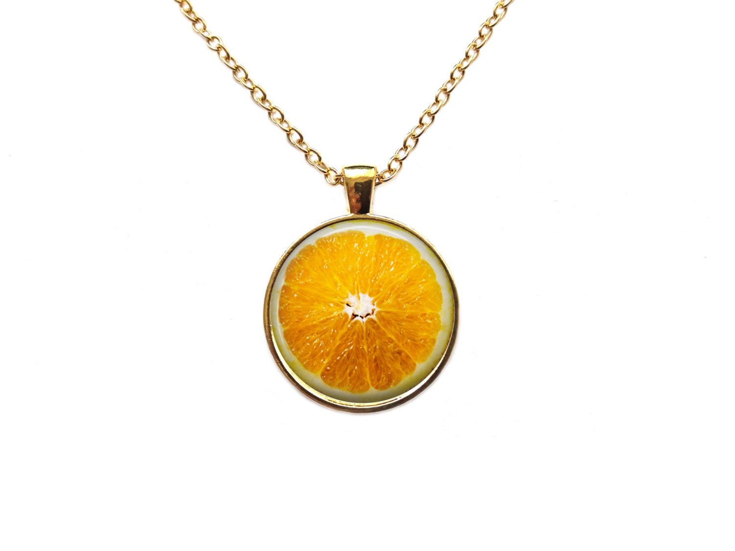 fruit jewelry fruit jewelry orange pendant berry necklace 6821