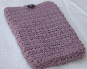 Lilac Crochet Phone Cover