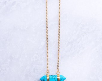 Amazonite Teal Pendant Necklace