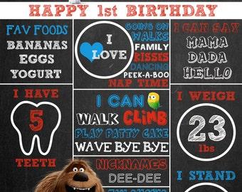 Custom Secret Life of Pets Chalkboard Poster
