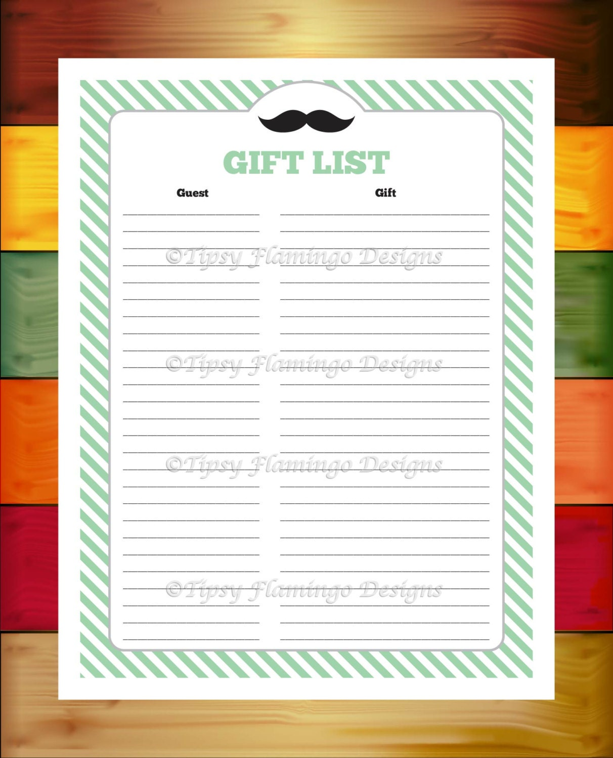 baby shower gift list baby shower game card gift list