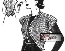 PDF Crochet Hug Me Tight Bolero Shrug Vintage Pattern Sizes Sm Med Large Instant Download