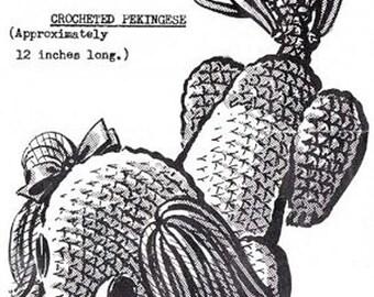 Crochet Toy Pekingese Puppy Dog Pattern PDF