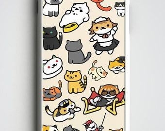 Neko Atsume iPhone 6 Case, Neko Atsume Cats iPhone 6S Case, Neko Atsume iPhone Case, Cat iPhone 6 Plus Case, Neko Atsume iPhone SE Case