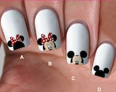 buy 1 get 1 free, 80 NAIL DECALS, minnie love, Nail Art,  WaterSlide nail  Decals, Nail Art design,Nail Transfers,Tattoos, DS3