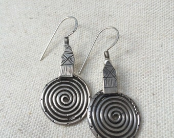 Spiral earrings - Tuareg design - handmade in Cairo