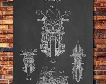 Patent of Suzuki V-Strom Motorcycle 2012