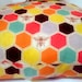 "Colourful Bumble Bee Cushion, 100% Organic Cotton, Suitable For 16x16"" 18x18"" 20x20"" and 22x22"" pads. wildlife, Insect Cushion. Orange, Red."