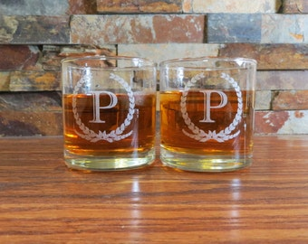 One Personalized Whiskey Glass - Tumblers - Glasses - Groomsmen- Wedding Gift- Anniversary- Birthday- Barware- Best Man- Husband