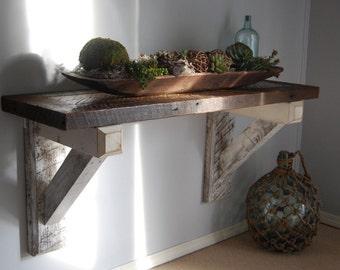 Reclaimed Wood TV stand, Reclaimed Wood plant shelf, Reclaimed Wood Computer Desk