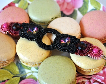 Handmade Soutach Bracelet Rosé