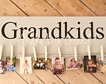 DIY Kit - Grandkids Make Life Grand - Photo Display - Grand kids Photos - Make it Yourself - Craft Kit - Create Your Own - Photo Display