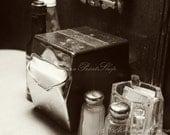 Vintage Diner Photography Print ~ Fine Dining ~ Old Diner Art Photo Print ~ Retro Diner Photo Print ~  Retro Diner Decor, Retro Diner Table