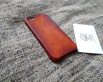 iPhone SE Leather, iPhone 5s Leather, iPhone SE case, iPhone 5s 5 ''Old DarkBrown''