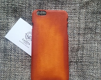 iPhone 6 6s PLUS,  leather case 'Old Tan'