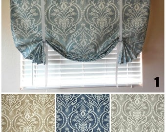 Window Curtain Roll Up Shade Tie Up Curtains Roll Up Shade Stagecoach  Blinds Tie Up Panel