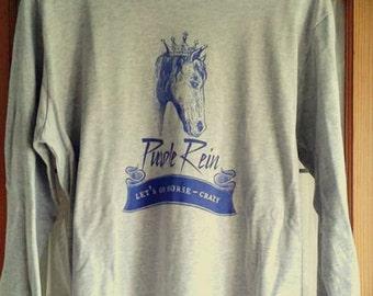 Purple Rein - Let's Go Horse-Crazy Long Sleeve T Shirt