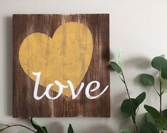 Rustic Wall Decor - Love - Wood Wall Decor - Love Sign - Love Decor - Home Decor