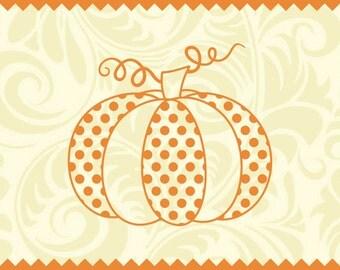 Polka Dot Pumpkin - svg - ai - dxf -cdr -eps -jpeg -png -pdf -wmf -docx -Iron on Transfer  -Cricut - Vinyl Cutting - Laser Engraving - Print