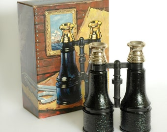 Vintage Avon Marine Binoculars Decanter With Tai Winds Aftershave and Cologne 1970s