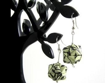 origami geo earrings