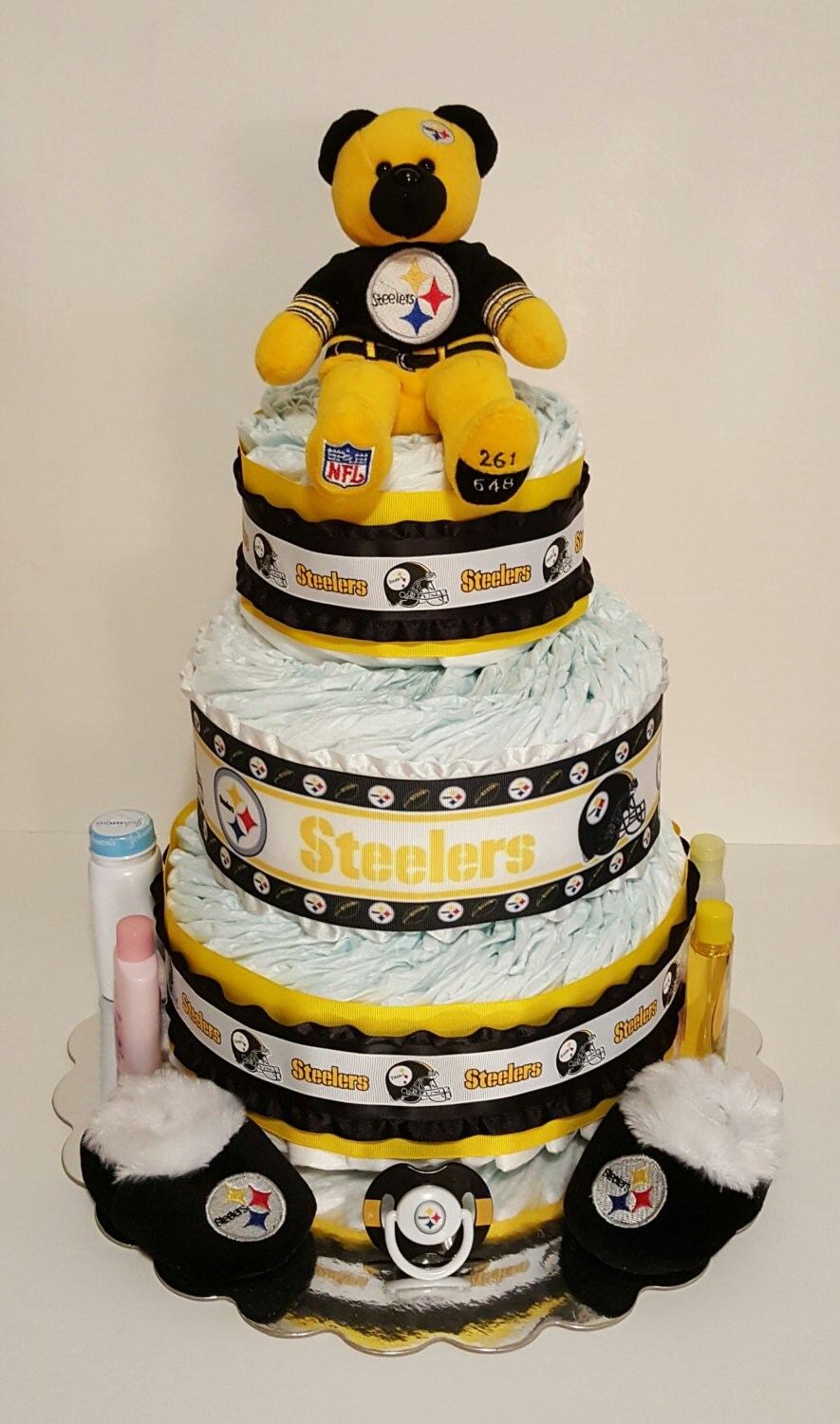 Pittsburgh Steeler S Themed Diaper Cake By