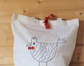 The Lord rooster and hen Lady bag.