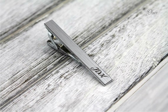 custom tie clip engraved personalized tie pin by oxee gift