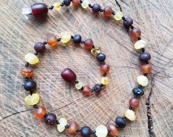 12in Mixed RAW Baltic Amber Teething Necklace
